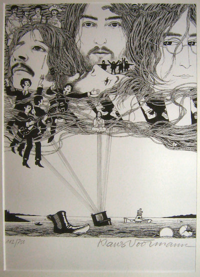 rubyvroom:  wingsovermycat:  Klaus Voormann art  LOVE X INFINITY