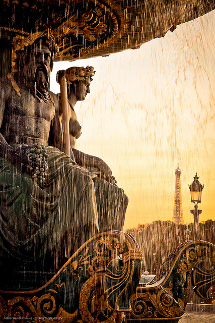 landscapelifescape:  Fontaine des Mers, Place de la Concorde, Paris Welcome Paris (by Marc Benslahdine)