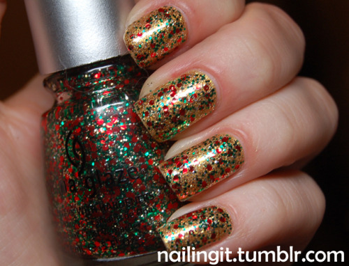 china glaze - PARTY HEARTY! milani - 3dsinful colors - all about you YOU GUYS, my bottle of party hearty was lost in the mail for about 3 weeks but it finally arrived today! just in time before i have to travel for christmas! sooooooo exciiiiiiittttteeeeeeeeeedddddddddd!
