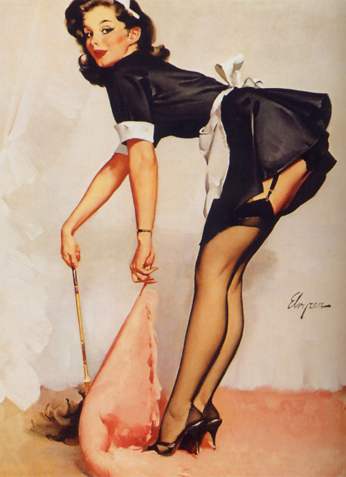 suicideblonde:  Clean Sweep (1963) by Gil Elvgren