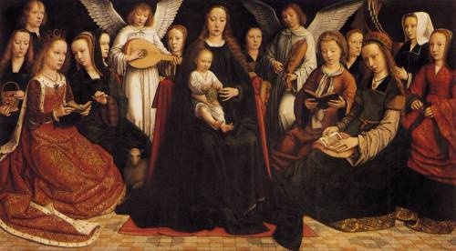 myaloysius:  Gerard David (ca. 1460-1523): The Virgin amongst the Virgins