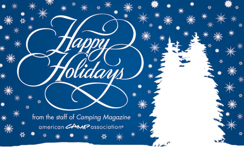 A Holiday card I created for the American Camp Association. Lettering is stock.
