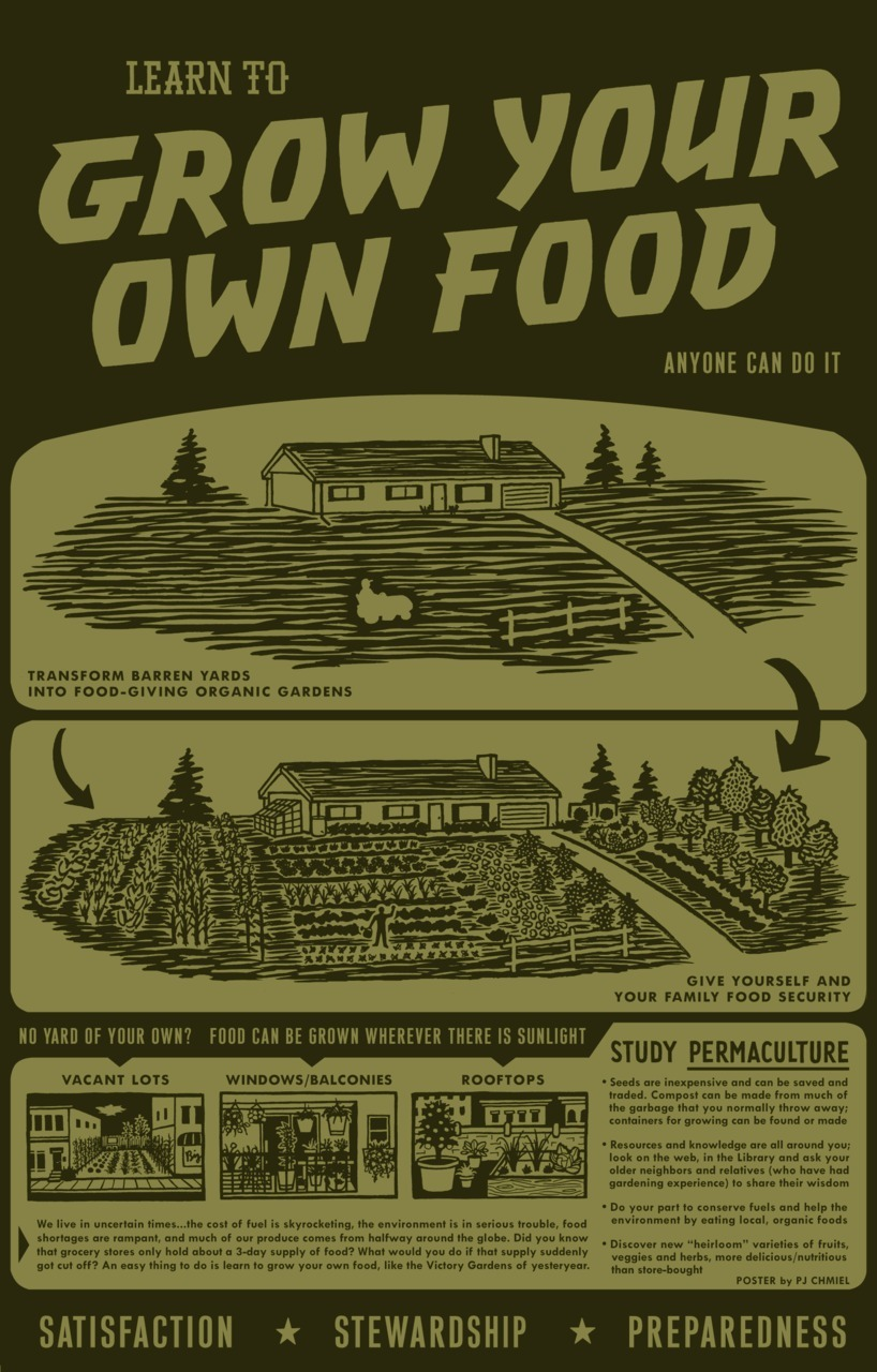 urbanfoodproduction:  This is an awesome poster. Since today is the day before Christmas I might go print some of these out and put them up in bathroom stalls in shopping malls or something.