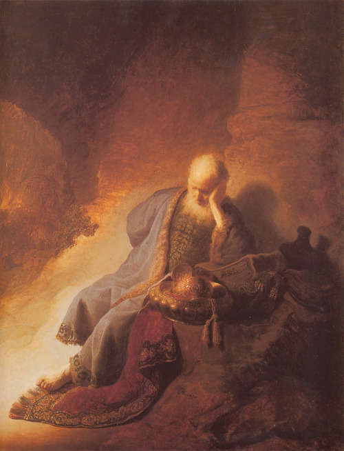 Rembrandt (1606-1669)Jeremais Lamenting the Destruction of JerusalemOil on panel163046 x 58 cmRijksmuseum (Amsterdam, Netherlands)