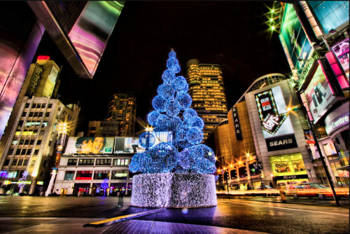 Christmas Dundas Square.