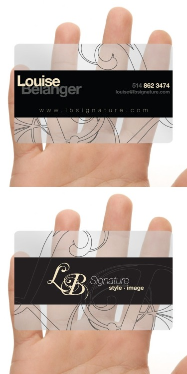 "Here's the business card I made for LB Signature. Simple, clean and has that ""wow"" effect. www.lbsignature.com"