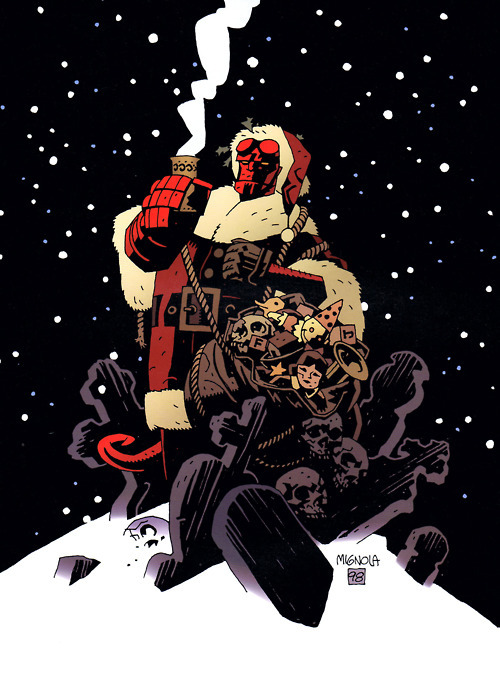 Merry Christmas from your favorite Paranormal Investigator, Hellboy.