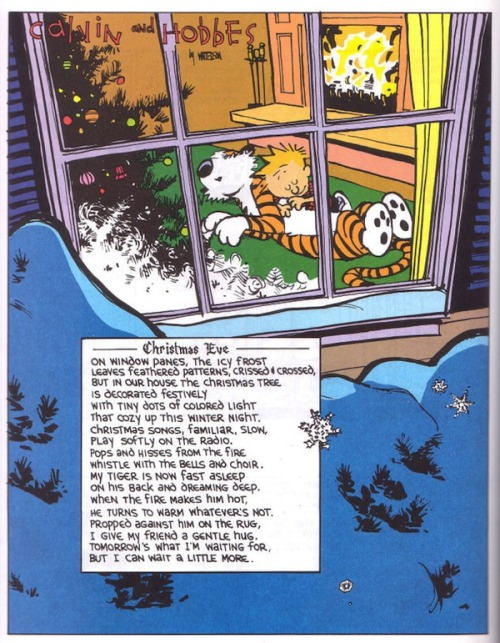 calvinnhobbes:  Merry Christmas and Happy Holidays !!! More strips and fan art are in the queue. Hope you all enjoy it :D    Feliz Navidad!