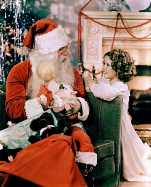 Shirley Temple and Santa Christmas - 1930s