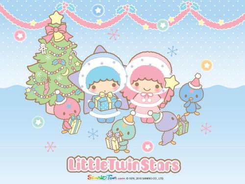 Little Twin Stars Winter Wallpaper
