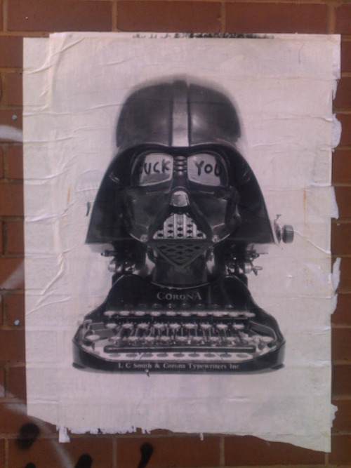 apolonisaphrodisia:  Darth Vader Typewriter Fuck You