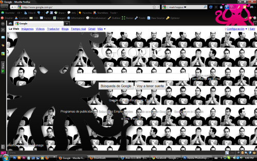 Mi nuevo background de Google ❤ Obvio que de Mark Hoppus