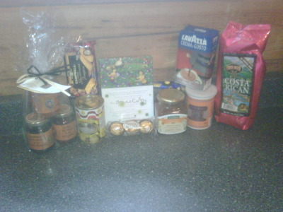 Some of my Christmas stocking contents. Foodstuffs. Santa knows me so well :)