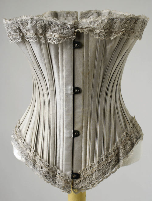 lostsplendor:  Corset c. 1885. Source: Metropolitan Museum of Art