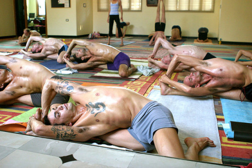 yogadudes:  Mysore Intermediate Class 61 (by Govinda Kai)  tattoos and yoga… yum!:D
