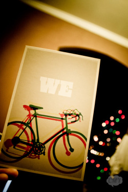 new mini postcard bike print for my desk :]  500th post!thanks to all my new followers btw <3