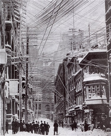 bikerfish:  NYC in The Great Blizzard of 1888.