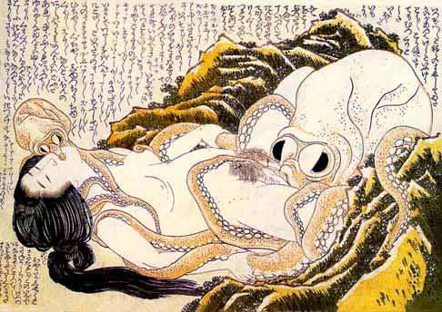 The Dream of the Fisherman's Wife. The first recorded instance of tenticle rape in japanese history. also from an 18th century scroll.