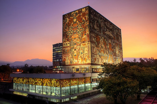 Biblioteca, UNAM Central University City Campus - Mexico