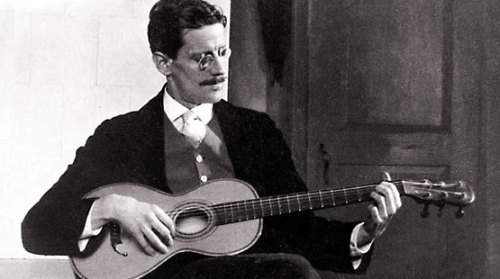 James Joyce, on guitar.