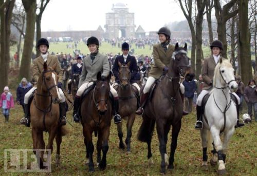 Boxing Day Hunt Meet in tweed