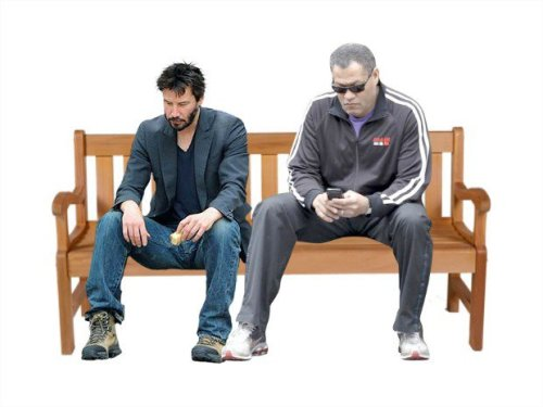 gamefreaksnz:  NEW MEME: Add your own Sad Keanu AND BlackBerry Morpheus at http://mememypic.com/