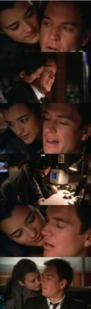 piccoligiganti:  Tony: You're behind me again, aren't you.Ziva: Lucky guess. You know, I think McGee's right…Tony: He was, was he?Ziva: It takes almost all of my willpower to resist the urges I have when I'm around you, Tony. Maybe, it's about time I just…give in, yes?Tony: And by give in you mean…Ziva: Letting loose. Doing what comes naturally to me.Tony: Hmm hmm. Yeah, I thought I was picking up that vibe the first time we went undercover together.Ziva: You were? In fact, I almost did it the first night in the hotel room. Tony: Hmm. Really?Ziva: But my father wouldn't approve.Tony: Because I'm not Jewish.Ziva: Because he gets very angry when I kill a co-worker!Tony: Like I believed you for even a second.Ziva: I'm sure you didn't. (slaps Tony) NCIS 4.10 Smoked