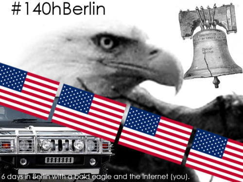 Hi! I've launched a Kickstarter campaign for an upcoming project, #140hBerlin. Check it out here. Any and all help is greatly appreciated. Thanks so much and Happy Holidays!