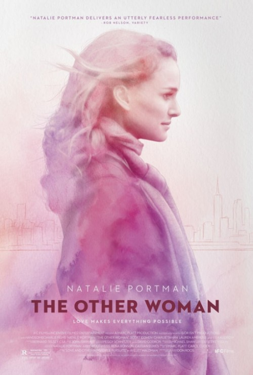 Lovely new poster (with the cheesiest tagline) of Natalie Portman's new flick, The Other Woman. Looks a bit like that Jane Eyre poster. Check out the trailer here.