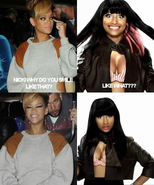 LAUGH out LOUD! rihanna and nicki minaj :p