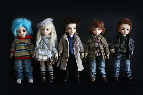 My little BJD dolls all together and in arrival order :D