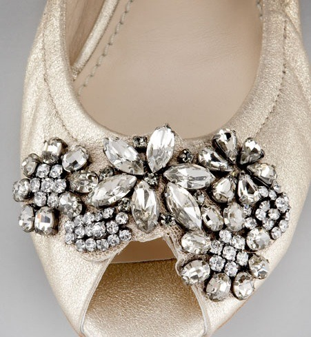 Well hello, adorable little bejeweled ballet flats