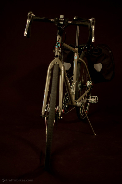 Georgia's touring bike: Front.