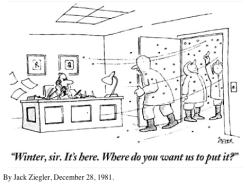 newyorker:  A slide show of our best blizzard cartoons throughout the years. Also, Adam Gopnik reveals the truth about snowflakes.