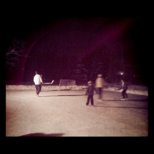 Skating in the backyard w/family. (Taken with instagram)