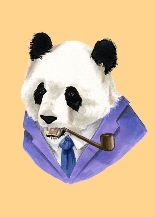 panda (by berkleyillustration)