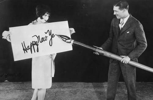 Clara Bow and Larry Taylor New Year's 1925