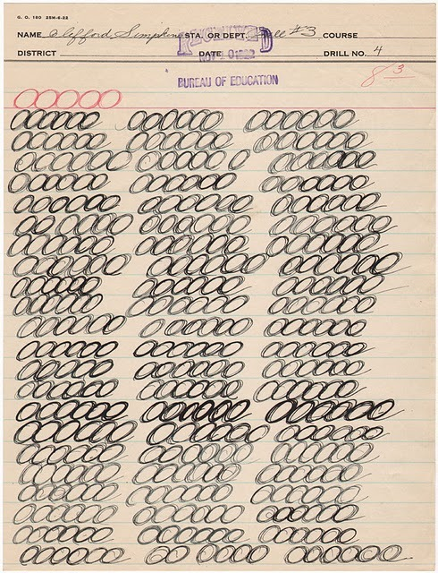 The art of penmanship — old penmanship exercise book pages from Ampersand, via Recovering Lazyholic.