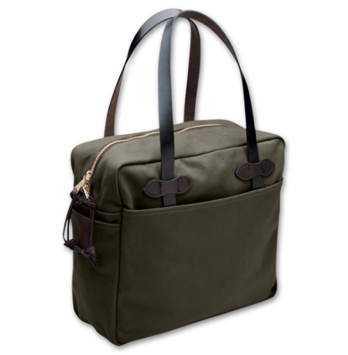 Rugged Twill Zippered Tote by Filson