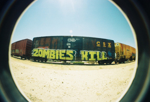 steezyhasadeathwish:  Zombies… (by J»>)  I kill zombies. Zombies don't kill me.