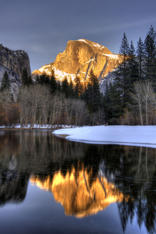 dangel799:  Half Dome Reflection by stevewhis :)
