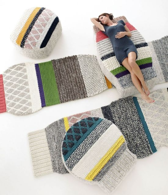 littlemisscolourful:  Original rugs like these are hard to find. I love the winterwarm textile and the variety of textures and colours. And of course the special shape. Mnagas rug by Patricia Urquiola for GAN. http://www.gan-rugs.com/coleccion.php