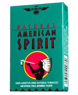 American Spirit Menthols This has nothing to do with style, but I just bummed one of these fuckers after a week and a half with no ciggies, and I'd swear the secret ingredient is purple kush, because I'm high as giraffe pussy.