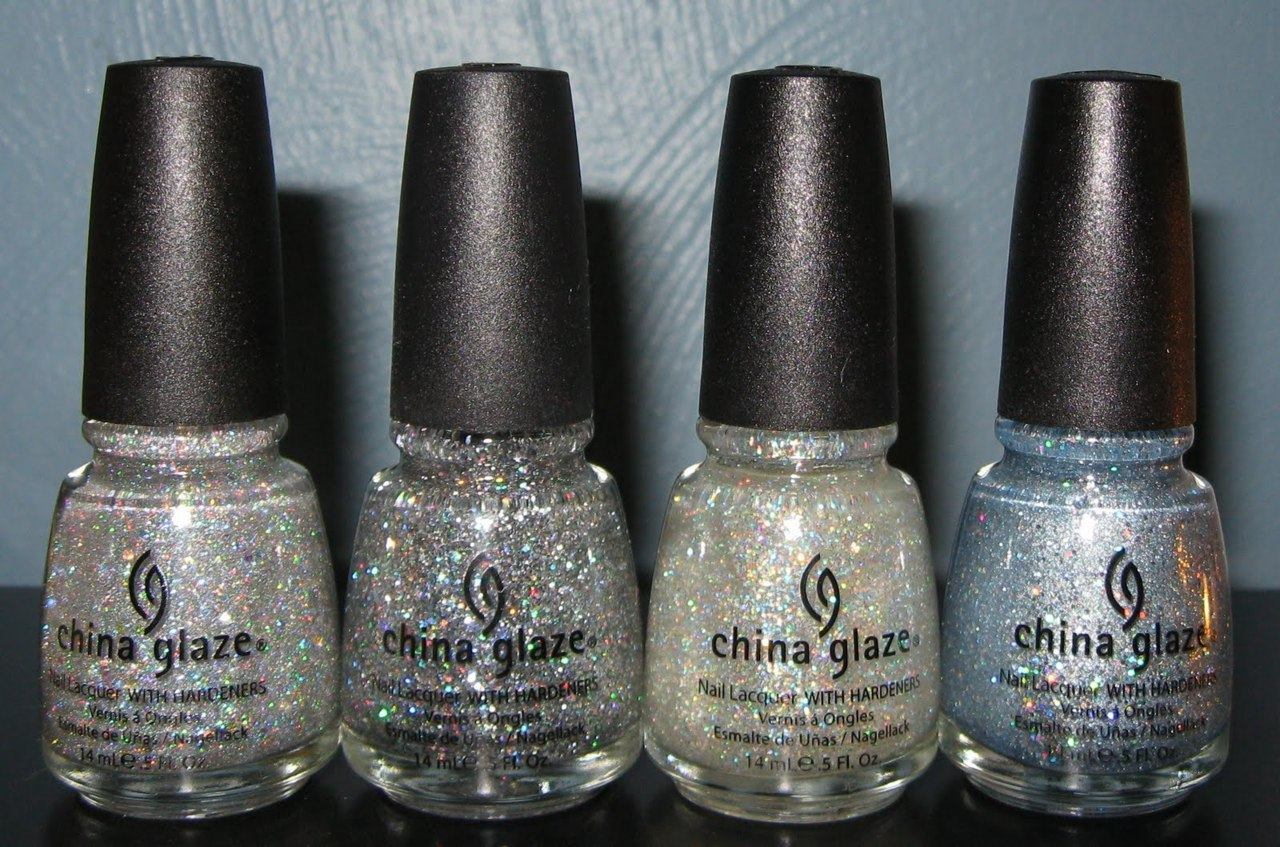 lacquerista:  L-R: Shooting Stars, Nova, Polar Ice, Luna. Via Body & Soul blog.
