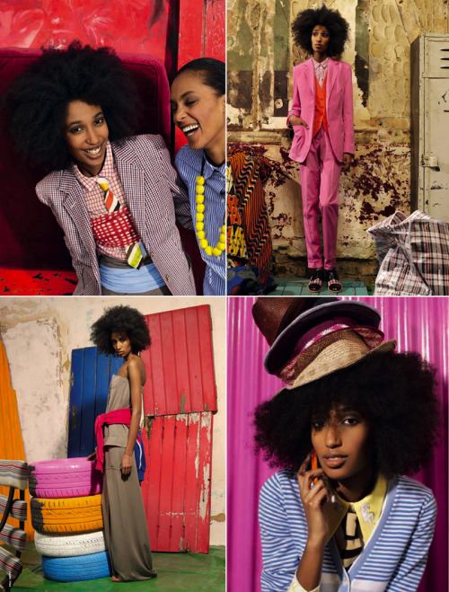 Julia Sarr-Jamois (fashion editor for Wonderland Magazine) perfectly captures the swagger of Paul Smith's Le Sapeur-inspired collection in this spread for D Magazine. Photos by Paul Smith, Styling by Camilla Rolla.