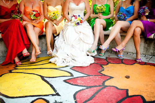 If your wedding was a bag of Skittles, it might look like this — and we mean that in the best possible way