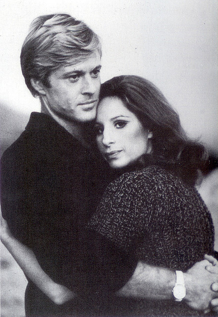 fuckyeahnewmanandredford:  Robert and Barbra Streisand in a publicity shot taken during the filming of The Way We Were (1973). always-fair-weather:  Robert Redford and Barbra Streisand