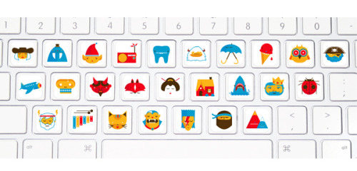 Picture Alphabet Keyboard Stickers by Christopher Monro DeLorenzo