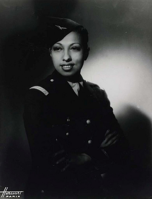 itsinthetrees:  ultimotango:  During World War II, Josephine Baker served with the French Red Cross and was an active member of the French resistance movement. The French Resistance was a group of individuals who helped to win the war against the German Nazis enemy with undercover work. Using her career as a cover Baker became an intelligence agent, carrying secret messages written in invisible ink on her sheet music. She was awarded honor of the Croix de Guerre, and received a Medal of the Resistance in 1946. In 1961 she received the highest French honor, the Legion d'Honneur from French president Charles deGaulle.  She would also tuck tiny notes into her skirts when she did burlesque routines, and would dance up to the intended recipient and let him pluck it out.  Really brave, really smart, really interesting lady, on top of all her artistic talents.
