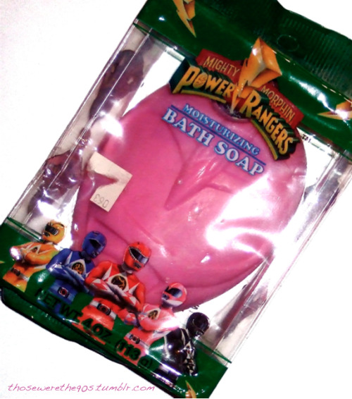 pink ranger soap.  yes, that's right.  Kimberly soap.  according to the package, it's from 1994.  My closet may be a mess, but I love being such a pack rat sometimes. LMAO